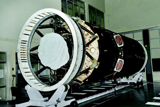 The indigenously made cryogenic stage of GSLV-D5.
