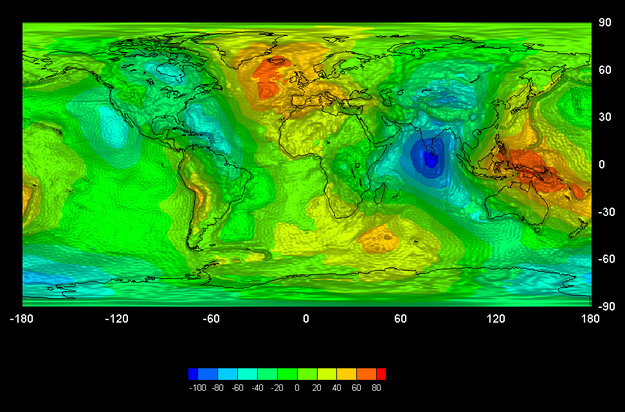 Earth's Gravity Map