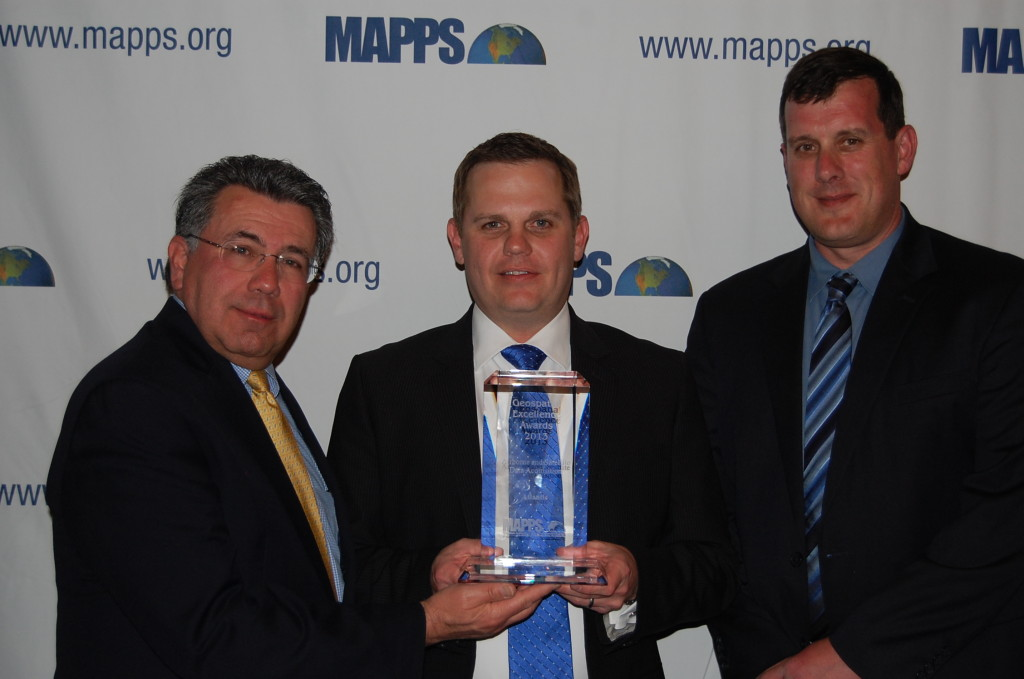 Atlantic Wins 2013 MAPPS Award For Excellence In The Airborne and Satellite Data Acquisition Category