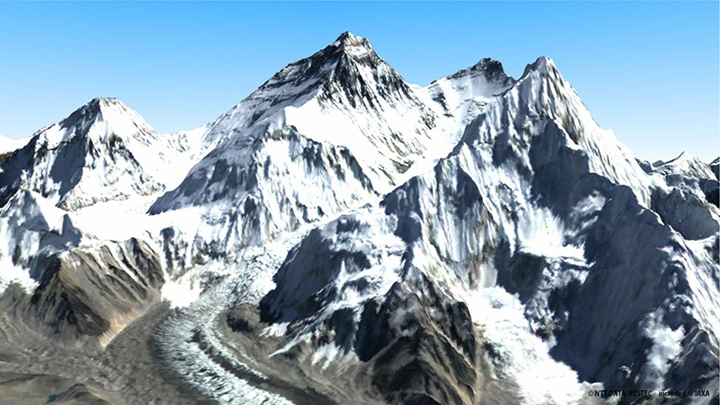 3D map subjected to color processing (Everest) Image Courtesy: NTT DATA