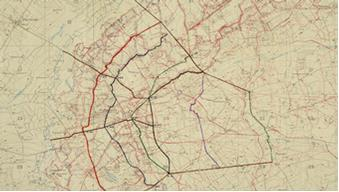 1917 trench map, based on an Ordnance Survay map