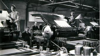 Printing maps during World War One