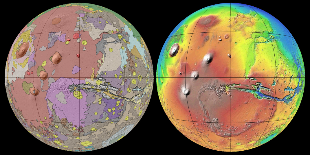 New Global Geologic Map of Mars GIS Resources