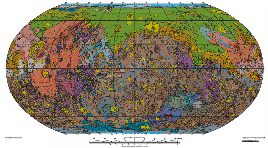 Geology Map of Mars
