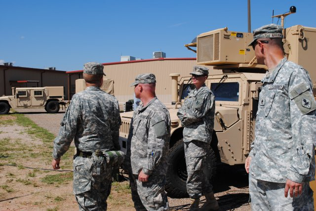 Image: US Army Geospatial Intelligence Analyst Course students and instructors tour the DCGS-A ground terminal station at the Joint Interoperability Test Command's test site in US. Photo: courtesy of Mr Ray K.Ragan.