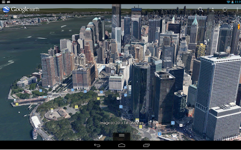 Built from scratch, our new 3D technology gives you sharper views in Google Earth for Android  Credit: Google Maps
