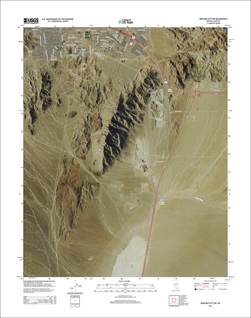 Updated 2015 version of Boulder City, Nevada quadrangle with orthoimage turned on. (1:24,000 scale)