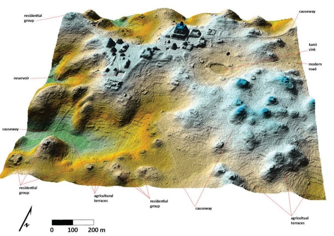 2.5 D LiDAR of epicentral portion of Caracol