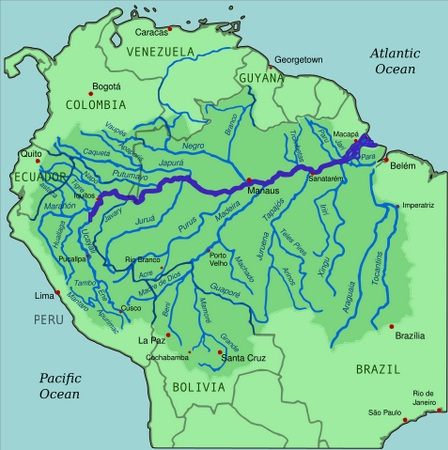 Map of the Amazon River Basin in (highlighted River Original CC-BY-SA)