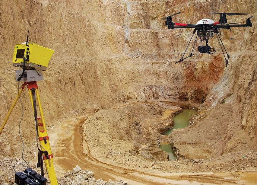 ILRIS and the geo-XR6 UAV combine their strengths for rapid, lightweight surveys in difficult terrain