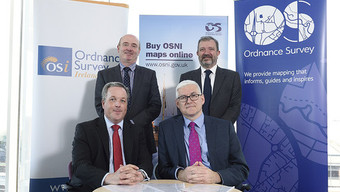 Senior figures from Land & Property Services (LPS) Ordnance Survey (GB) and Ordnance Survey Ireland met in Belfast on 28 May to sign the TriOS agreement. The new agreement between the three organisations is set to improve availability and access to mapping services for customers and government users operating across the UK and Ireland.