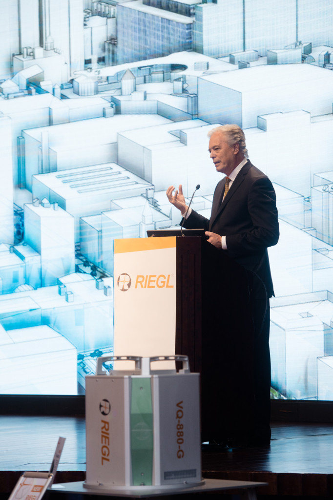 The featured keynote was delivered by Mr. Lawrie Jordan, Director of Imagery at ESRI, in a fascinating overview and outlook on how LiDAR is able to support ESRI's efforts to generate the map of the future.