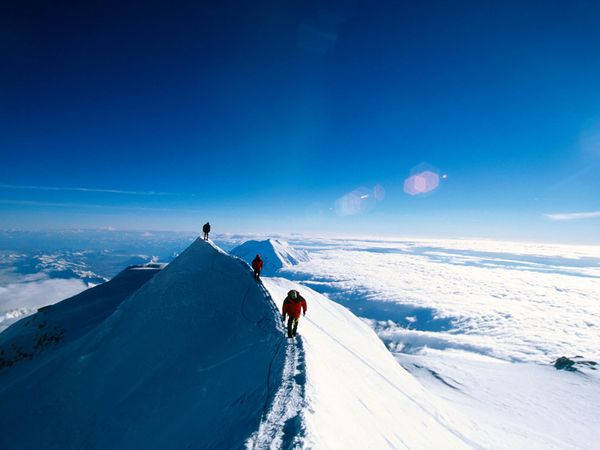 Climbing Mount McKinley, North America's highest peak, is a daunting task for even the most experienced mountaineers at Denali National Park in Alaska. (Photo courtesy of National Geographic)