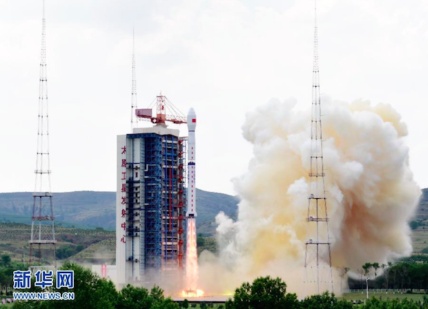 The Gaofen 8 satellite lifted off at 0622 GMT (2:22 a.m. EDT; 2:22 p.m. Beijing time) Friday. Credit: Xinhua