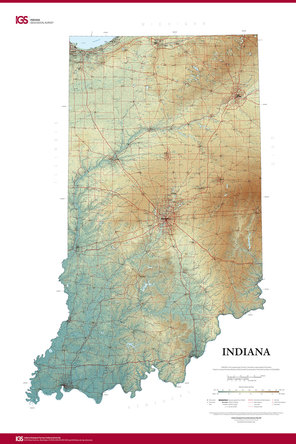 A new state map from the Indiana Geological Survey features the latest digital technology using high-resolution elevation data.
