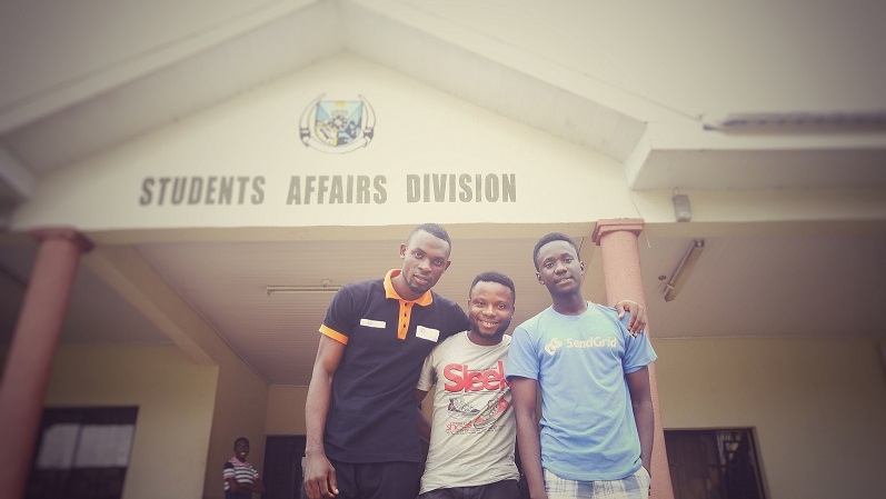 From Left - Right: L-R: Ayodele Adeyemo (Remote Sensing and GIS); Eyitemi Egbejule (Electrical Electronics Engineering); Eyo Okon Eyo (Computer Science).