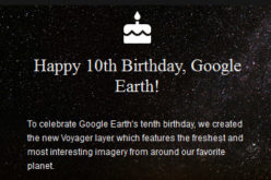 Celebrate Google Earth 10 Birthday with Two New Features