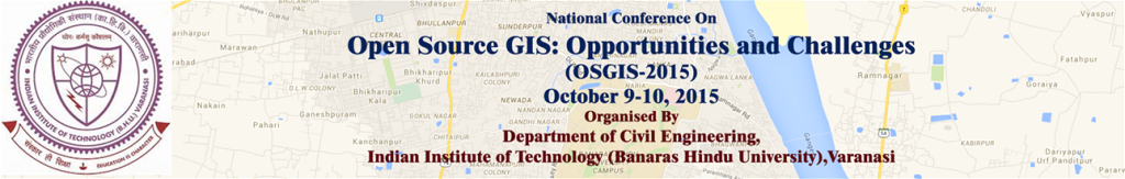 opensource gis conference at iit bhu