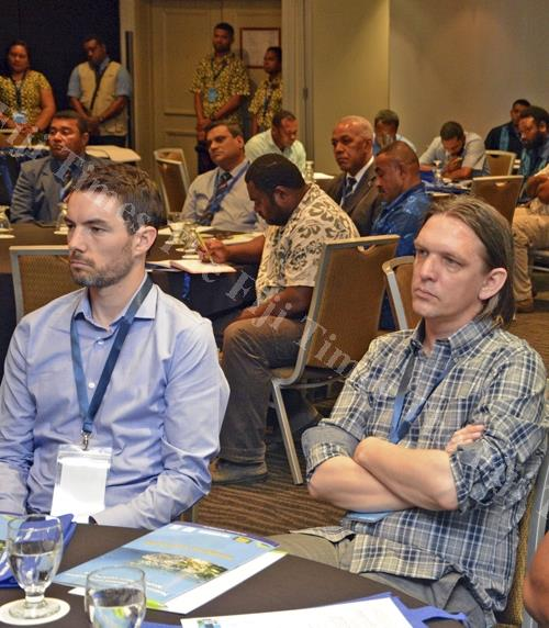 Participants at the Fiji Geospatial Information Management Conference at Holiday Inn in Suva last Friday. Picture: JONACANI LALAKOBAU, -The Fiji Times Online