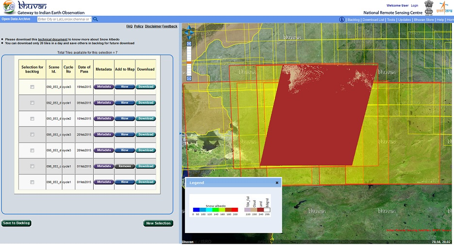 Filtered NDVI products
