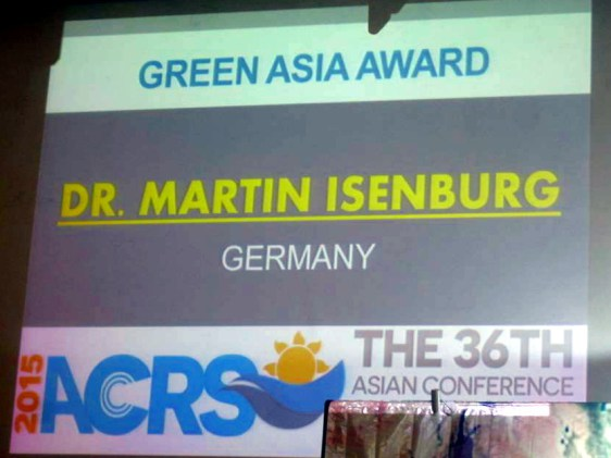 Green Asia Award given to the CEO of rapidlasso GmbH