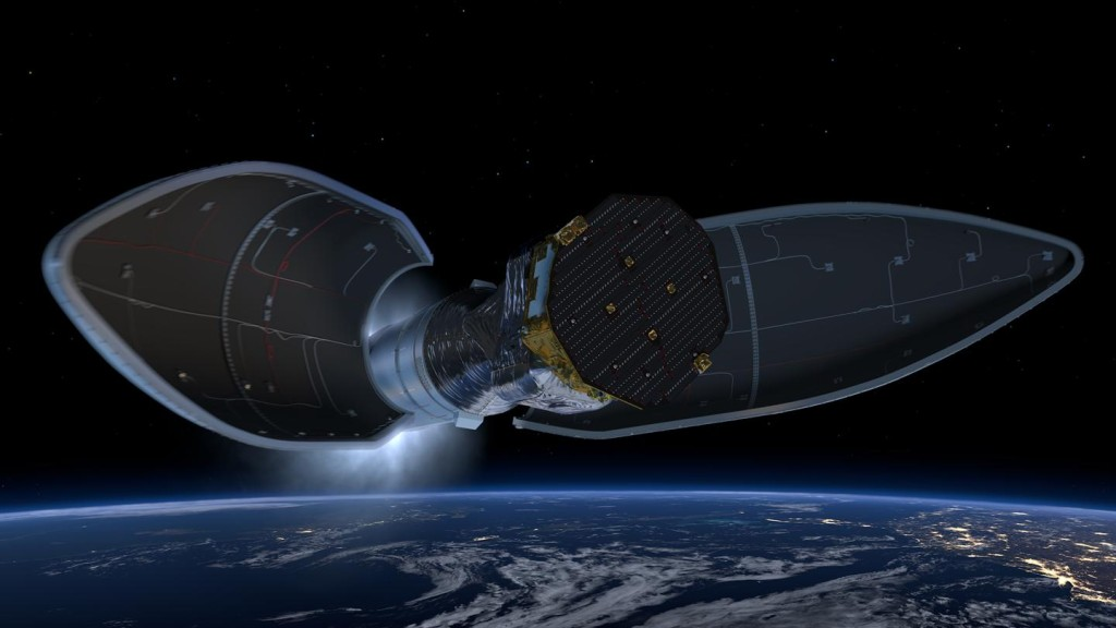 LISA Pathfinder launch - fairing jettison
