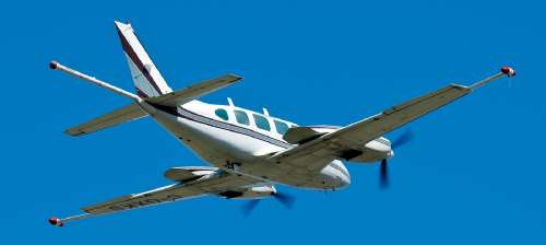 A Piper Navajo airplane with auxiliary wingtip pods and tail stinger magnetometers will study the rocks within the St. Francois Mountains in southeast Missouri.