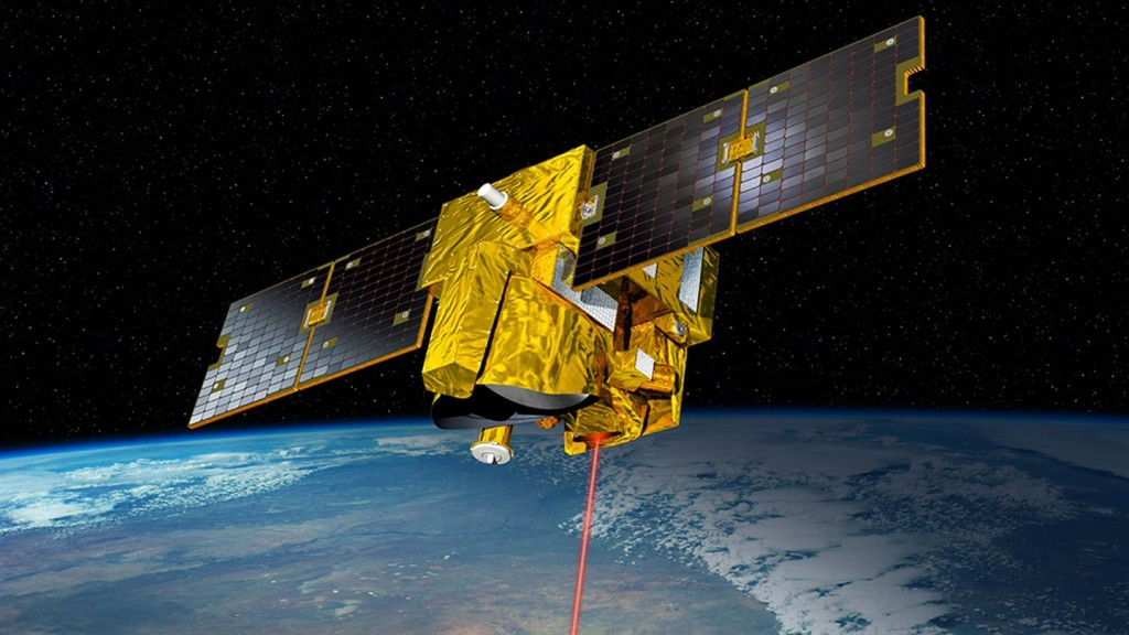 In 2020, the French-German MERLIN satellite (Methane Remote Sensing LiDAR Mission) will go into Earth orbit to mesaure concentrations of atmospheric methane with unpredented precision. Credit: CNESS/Illustration D. Ducros.