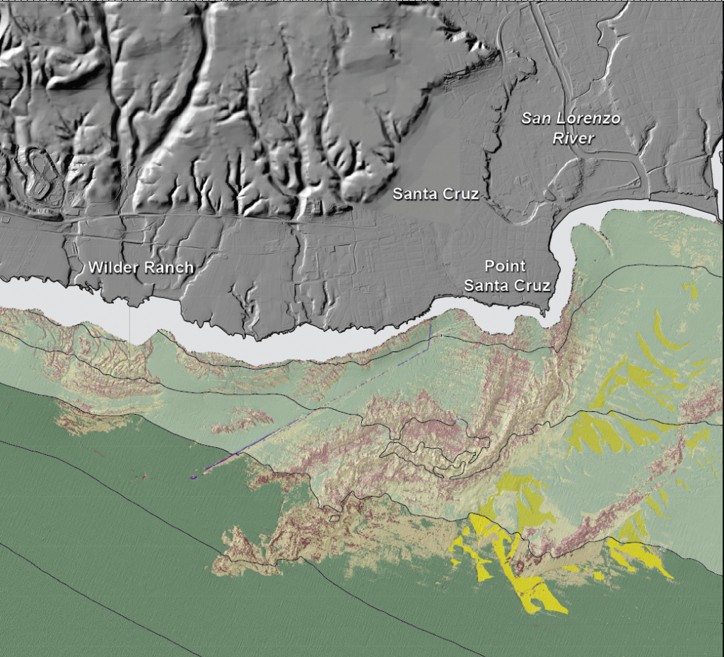 """Seafloor Character"" map of the Santa Cruz Region"