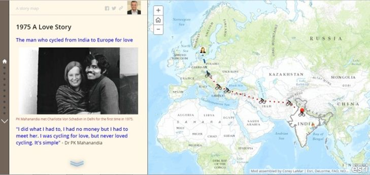 1975 A Love Story The man who cycled from India to Europe for love