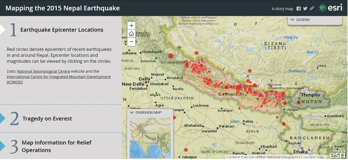 Mapping the Nepal Earthquake