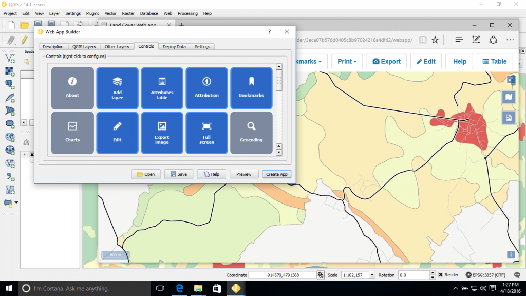 web apps directly from QGIS