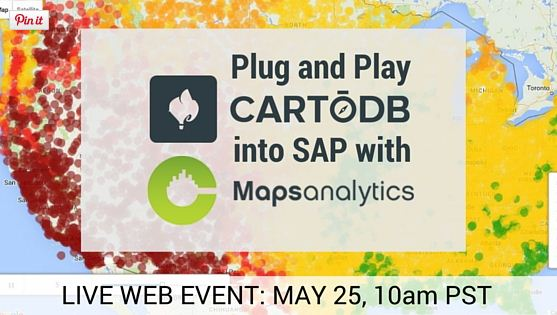 Webinar CartoDB into SAP with CMaps Analytics