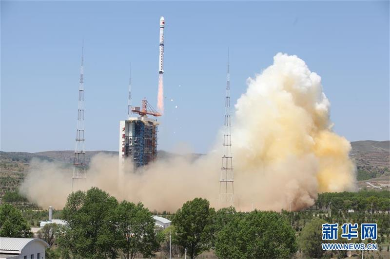 A photo shows the Ziyuan III 02 satellite has taken off from the Taiyuan Satellite Launch Center in northern Shanxi Province on May 30, 2016. [Photo: Xinhua]