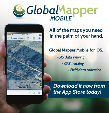 Global Mapper Mobile is Now Available for iOS