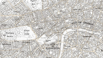 OS 225th anniversary map of London