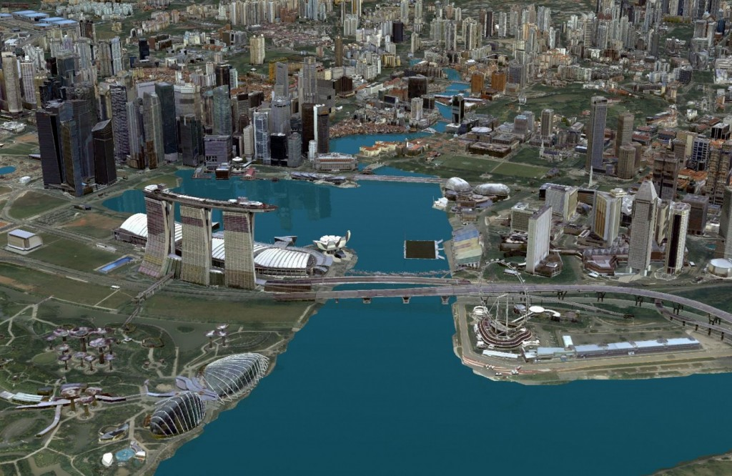 Singapore Land Authority 3D Smart Nation Map; Credit: Esri Singapore