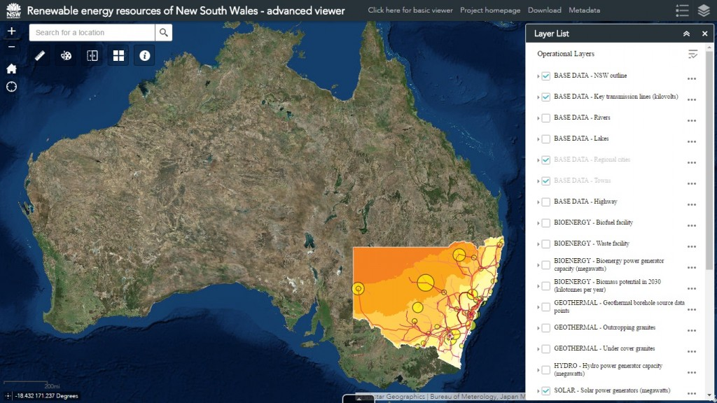 New South Wales Government Launches Renewable Energy Resources Map