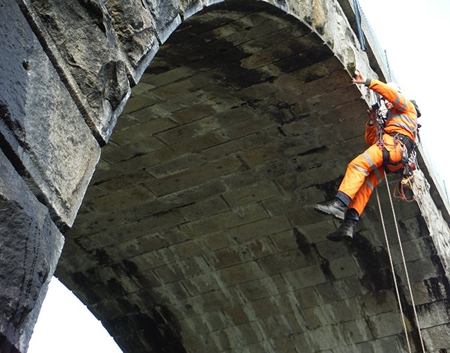 Traditional Bridge Inspection: Risky and Dangerous.