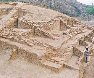 The Buddhist Stupa, under excavation in Rajgir, Bihar.— FILE PHOTO: Archaeological Survey of India