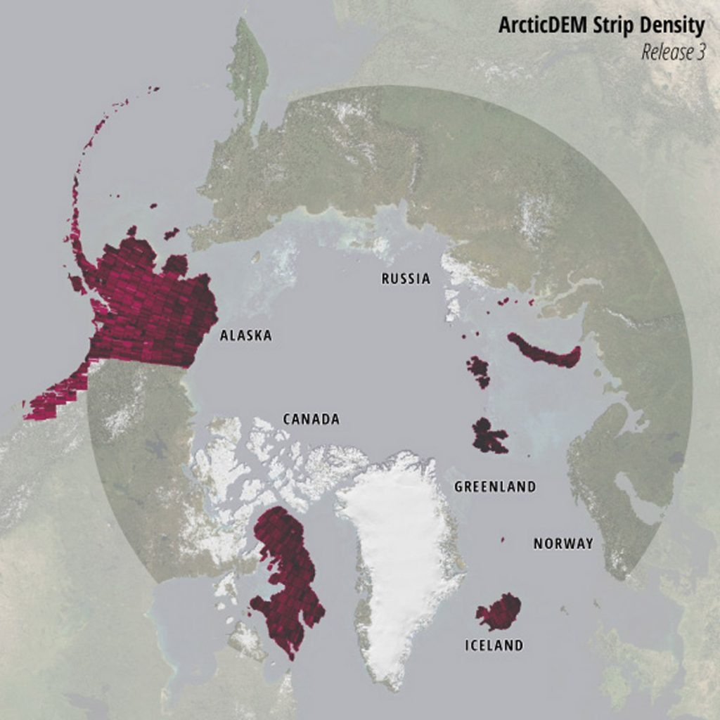 ArcticDEM Strip Density