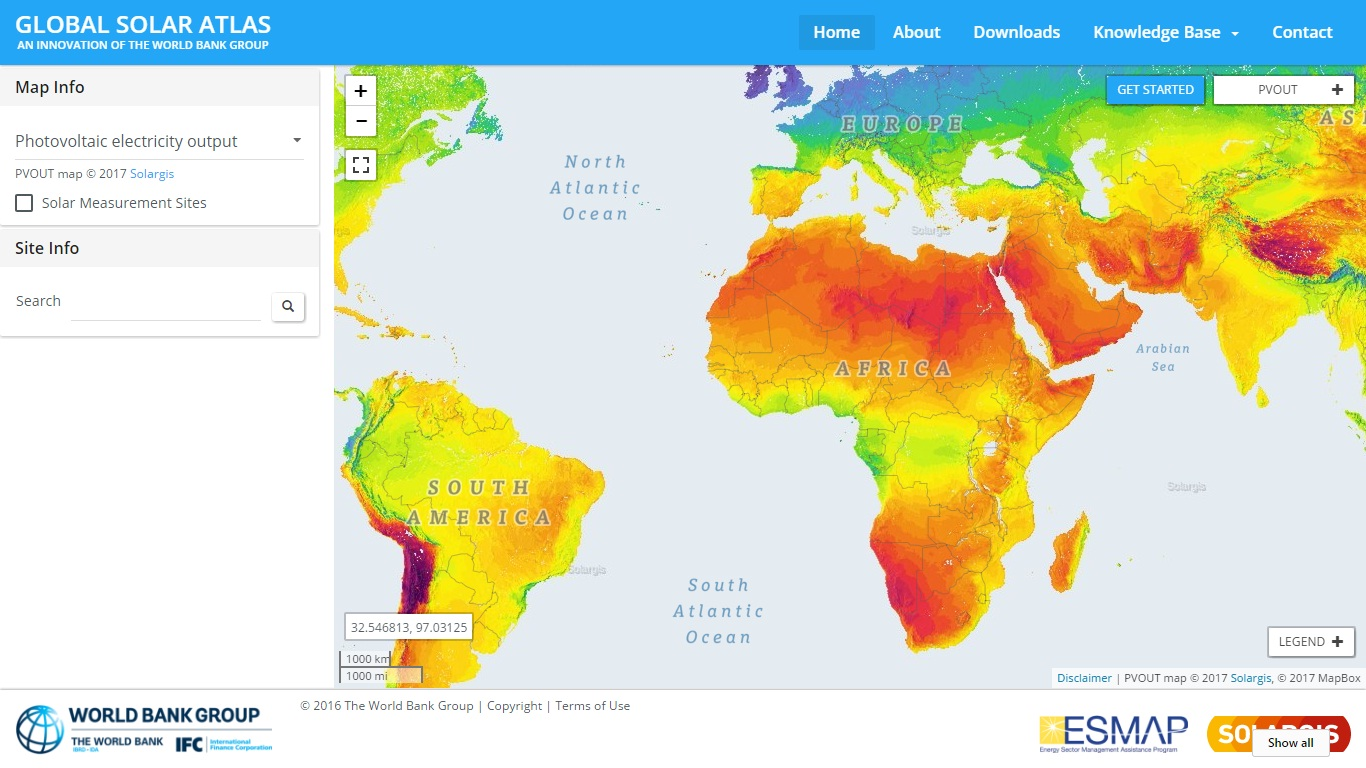 Global Solar Atlas Gis Resources
