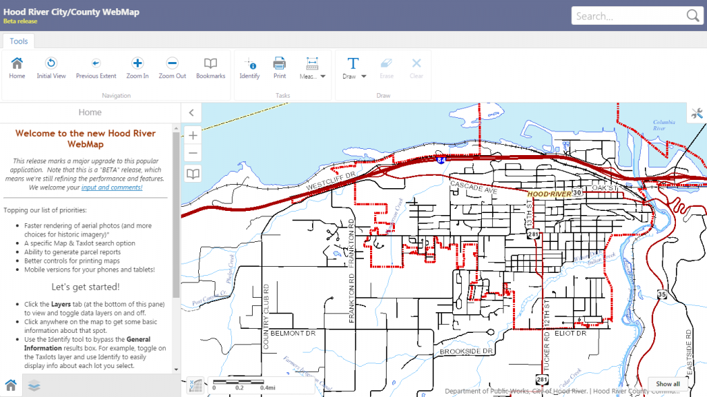 Hood River County Releases New GIS Mapping Tool