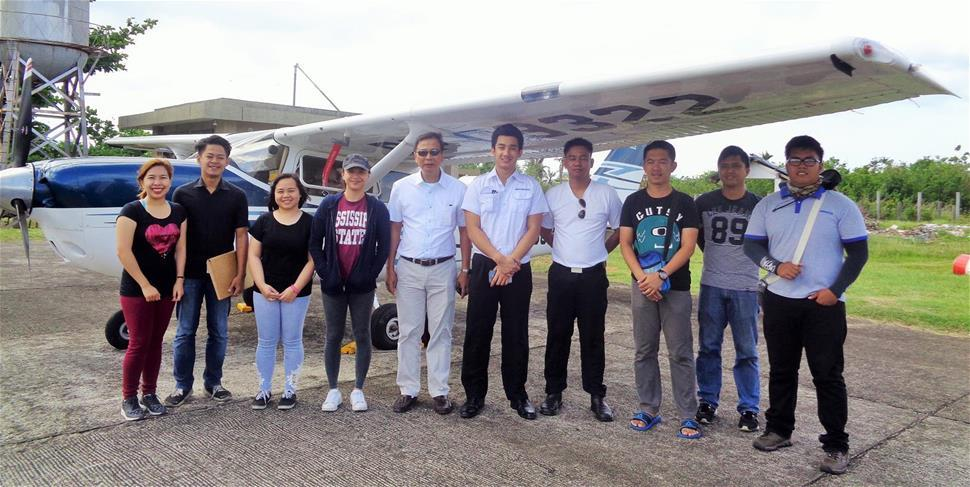Aerial LiDAR Survey: Composing the team were senior science research specialist Pearl Mars, research associates For. Regina Felismino, Jonalyn Gonzales, and Engr. Brylle de Castro, and airborne security TSgt. Lee Jay Punzalan. Image Credit: Catandunganon Tribune