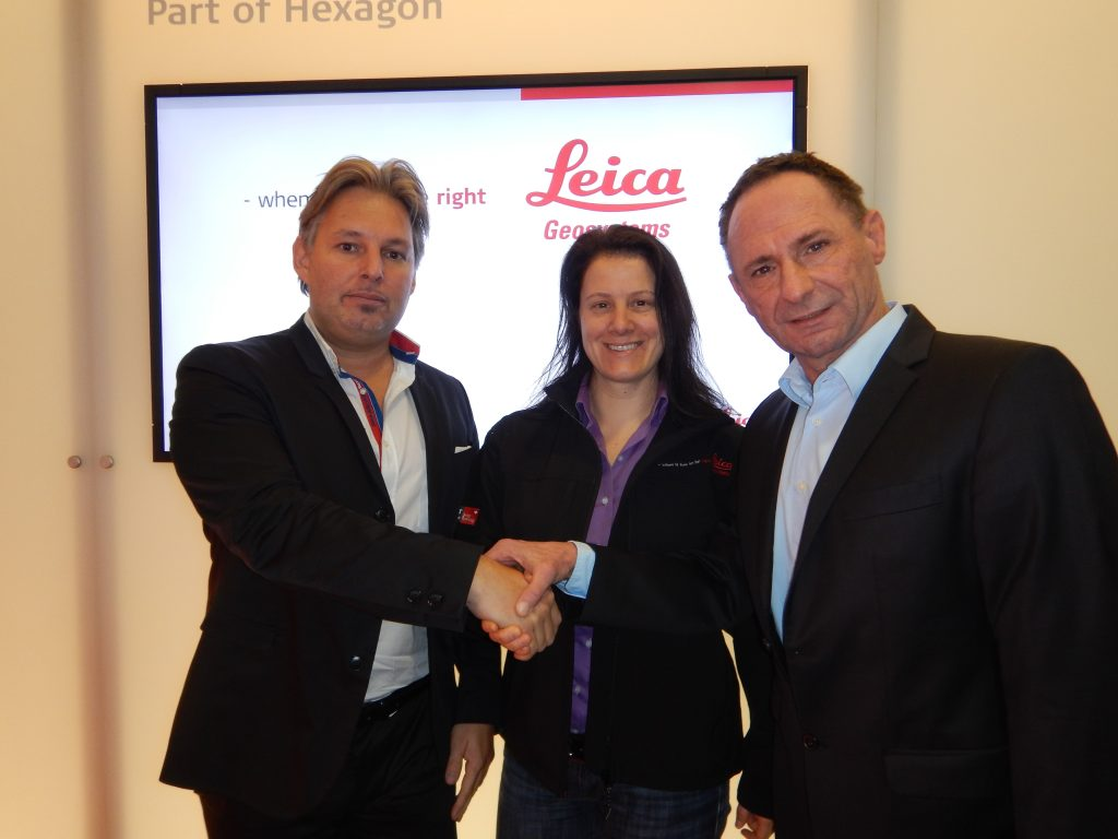 From left to right: Michael Pegam; Katherine Broder; Klaus Kienzl-cloud based utility mapping