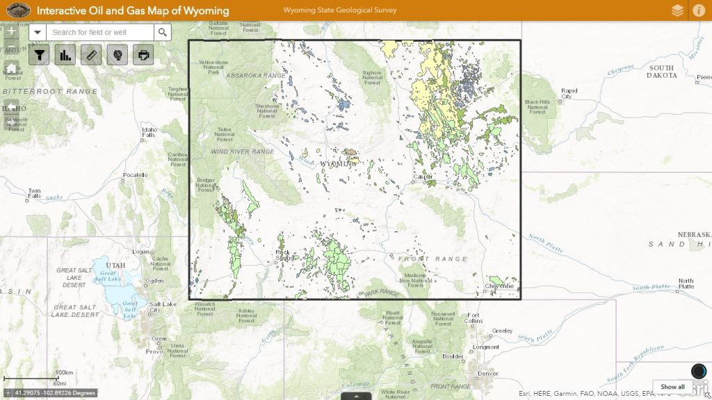 Wyoming Geological Survey Completes - Online Oil and Gas Map