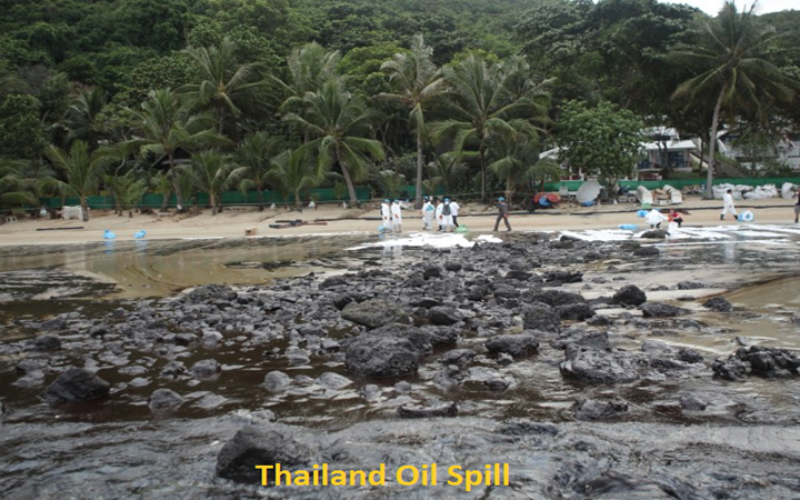Satellite image shows Thailand's oil spill