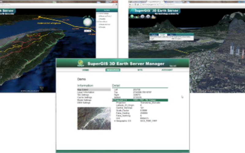 SuperGIS 3D Earth Server Brings Brand New Map Manipulation for 3D Visualization