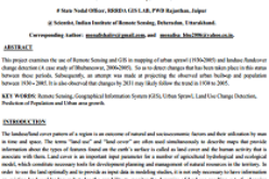 Urban Sprawl Mapping And Land Use Change Analysis Using Remote Sensing And GIS (Case Study Of Bhubaneswar City, Orissa)
