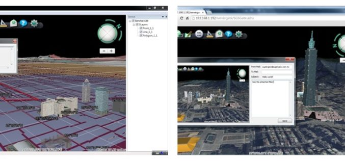 Superior 3D Map Viewing with SuperGIS 3D Earth Server Front-end Applications